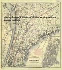 "1892 LARGE ""WHEELING"" BICYCLE MAP NEW YORK CITY"