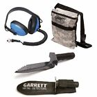 Garrett Edge Metal Detector Digger, Camo Finds Pouch and Submersible Headphones