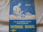1972 72 CHEVROLET CHEVY TRUCK OVERHAUL MANUAL SERIES 40 60 SUPPLEMENT