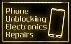 AB006 B Phone Unblocking Electronics Repairs LED Light Sign