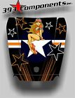 Arctic Cat Wildcat 1000 Hood Graphic Decal Sticker Aircraft Pinup Orange