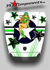 Arctic Cat Wildcat 1000 Hood Graphic Decal Sticker Aircraft Pinup Green White
