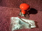 RED STEERING WHEEL SUICIDE SPINNER KNOB AUTO TRACTOR 50s 60s STYLE ACCESSORY