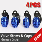4x Grenade Bike Car Motors Motorcycle Tire Tyre Air Valve Dust Cap Cover