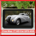 "7"" Inch HD 128M RAM Flash 4GB Car GPS Navigation Win CE 6 FM Mp3 Mp4 Free Maps"