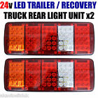 Led Rear Tail Lights Truck Lorry Trailer Tipper Chassis 24v Set Of 2