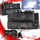 SMOKE HEADLAMPS+BUMPER+CORNER FOR 88-93 CHEVY BLAZER/TAHOE+9006 12000K SLIM HID