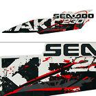 Sea-Doo New OEM 230 Wake Starboard Wake Vinyl Black/White/Red Graphic Decal/Stic