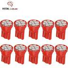 10X Pure Red T10 8-SMD LED Interior Instrument Dash Lights W5W 2825 158 168 192