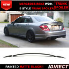 07-13 Benz W204 C-Class B Style Painted Matte Black Trunk Spoiler - ABS
