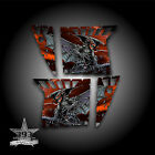 Pro Armor Door Graphics Kit Polaris RZR XP 900 RZR S 800 07-14 Guardian Orange