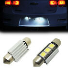 HOT 2X White 36mm Canbus  Festoon LED For License Plate Lights Mercedes LC-1