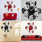 Luxury Large DIY Wall Clock 3D Mirror Surface Sticker Home Decor