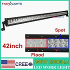 42inch 240W LED Cree Light Bar Combo spot flood Work Offroad Driving 4WD UTE CAR