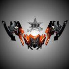 Arctic Cat Firecat Sabercat F5 F6 F7 Graphics Decal Wrap kit Guardian Orange