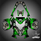 SKI-DOO REV XM SUMMIT SNOWMOBILE SLED GRAPHICS DECAL KIT WRAP OUTLAW GREEN