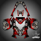 SKI-DOO REV XM SUMMIT SNOWMOBILE SLED GRAPHICS DECAL KIT WRAP OUTLAW RED
