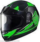 HJC CL-Y YOUTH Striker Snowmobile Helmet Green YOUTH MD Medium Full Face CHILDS