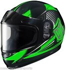 HJC CL-Y YOUTH Striker Snowmobile Helmet Green YOUTH L LG Large Full Face CHILDS