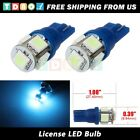 Pair of 168 194 Step Bumper License Plate Light Lamp Ice Blue 5050 SMD LED Bulb