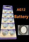 50 piece AG12 G12 LR43 D186A L1142 RW84 1.5V Card alkaline battery