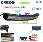 "50""384W Combo Led Light Bar Offroad Driving For Jeep Truck Car 4WD SUV ATV"