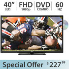 """RCA 40"""" Inch 1080p FULL HD LED TV FHD 60Hz w/ DVD Combo and 2 HDMI - LED40G45RQD"""