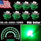 7x Green T5 B8.4D Neo Wedge 5050 SMD 1-SMD Car Dashboard Dash Gauge Light Bulb