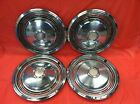 "Vintage Set Of 4 1973–74 Pontiac 15"" Hubcaps Bonneville Lemans Grand Prix"