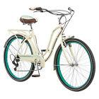 """Women's 26"""" Bike Hybrid 7 Speed Cruiser Bicycle Cream Beach City Road Town Retro"""