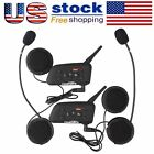 2x V6 1200 Handsfree Bluetooth Interphone Moto Ski Helmet Intercom Headset US