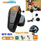 1000m BT-S2 Motorcycle Bluetooth Helmet Headsets Interphone Intercoms+FM Radios