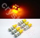 6 x T10 194,168,2825, 9 x 5050 SMD LED Yellow Super Bright Car Lights Lamp Bulb