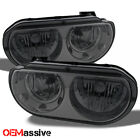 08-13 Dodge Challenger Replacement Smoke Headlights Headlamps Left + Right