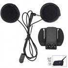 Helmet Headphones Mic Speaker+Clamp Mount for V6 1200m Bluetooth Helmet Intercom