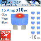 Fuses STANDARD blade smart 15 AMP LED Glow Blown ATC ATO automotive regular fuse