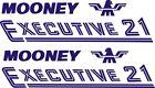 Mooney Executive 21 Aircraft Decal 10'' wide x 2.5'' high!