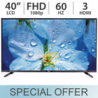 "RCA 40"" inch 1080p FHD LED LCD FULL HD TV 60Hz with 3 HDMI LED40E45RH - NEW!"