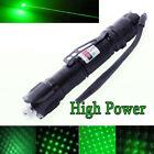 Powerful 5 Miles 532nm Green Laser Pointer Pen Visible Beam Star Cap