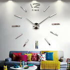 Luxury Large DIY 3D Wall Cool Mirrors Clock Stickers Art Bell Clock Home Decor
