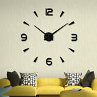 Modern Large 3D Mirror Surface Clock Wall Sticker DIY Home Office Room Decor