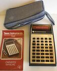 Texas Instruments Electronic Slide-rule calcualtor TI-30 Red LED Case and Manual