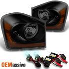 04-05 Dodge Durango Black Smoke Replacement Headlights + Slim Ballast 8000K HID