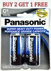 2pcs Wholesale C Panasonic Battery Batteries Super heavy duty Bulk Lot