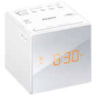 Sony Digital Amber Backlit Smoked LCD Display AM/FM JUMBO LED Alarm Clock Radio