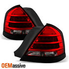 Fit 1998-2011 Ford Crown Victoria LED Red Clear Tail Lights L+R