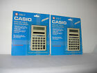 2 NEW OLD STOCK UNUSED CASIO HS7 SOLAR CELL CALCULATORS FACTORY SEALED