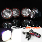 """4PC 6000K 3500LM 55W HID 7"""" OFF ROAD LIGHTS LAMPS BULL BAR/BUMPER/ROOF + SWITCH"""