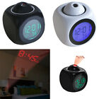 Multifunction Voice Talking LCD Diplay Digital Alarm Clock LED Projection Decor