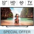 "RCA 32"" Inch Slim Smart 720p 60Hz LED HD TV w/ 3 HDMI & USB SLD32A30RQ - NEW"